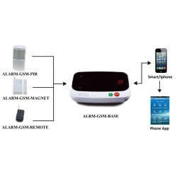 GSM Alarm System. Trådløst alarmsystem med fjernkontroll og ringefunksjonen