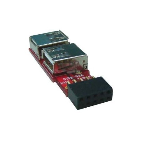 USB pinhead til 2 x USB-A stik