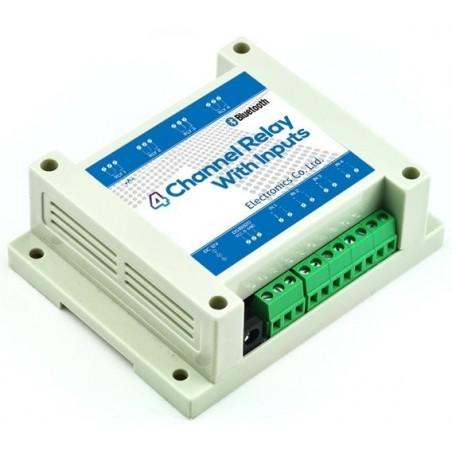 Box med 4 stk 230 volt relæer til styring via bluetooth