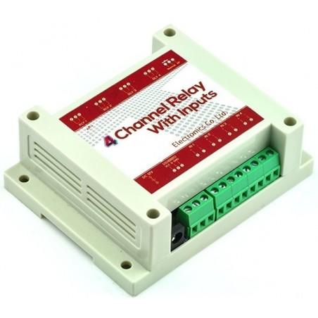 Box med 4 stk 230 volt relæer til styring via WiFi