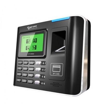 Adgangskontrol med RFID- og fingeraftrykslæser, display