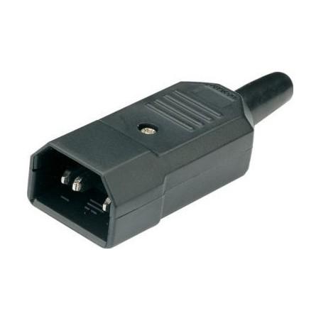 IEC strømstik C15, 3P 230V han Eurostik