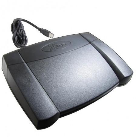 Programmerbar fodpedal med 3 kontakter - USB