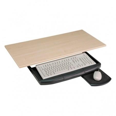 sort tastaturholder inkl. musemåtte