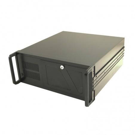 """19"""" kabinet, ATX, sort, USB udtag i front, 45 CM dyb"""