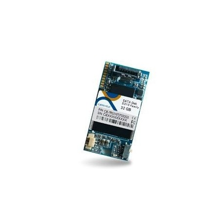 32GB DOM SATA MLC XL ext. temperatur -40~+85°C, vandret, venstre