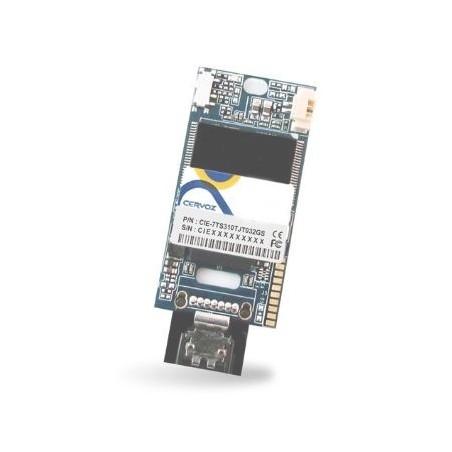 32GB DOM SATA MLC XL, ext. temperatur -40~+85°C, lodret