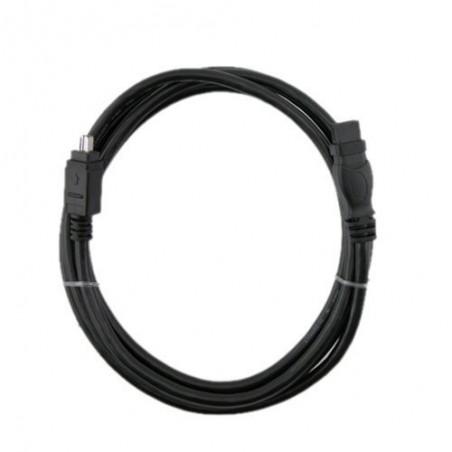 Firewire IEEE 1394b adapterkabel 4-polet han – 9 polet han FW800, sort, 1,8m