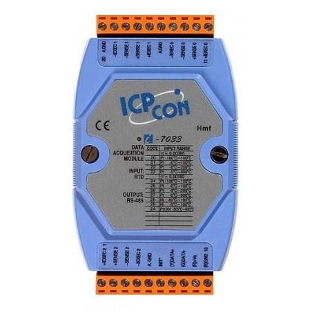 3 x Temperaturmåling med pt100 føler og Ni RTD elementer, 16bit, RS485 bus