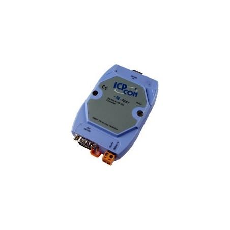 Optisk isolation til RS232, DB9 han/hun, RX, TX, RTS/CTS eller DSR/DTR, DIN, 10-30VDC