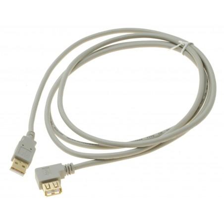 USB A han - A hun, 90° vinkelkabel