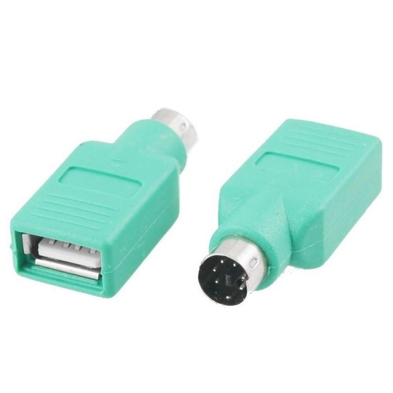 Omformerstik mellem USB og PS/2.