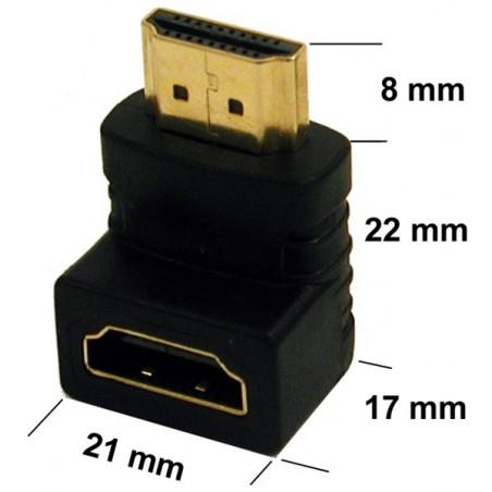 HDMI vinkelstik 90º