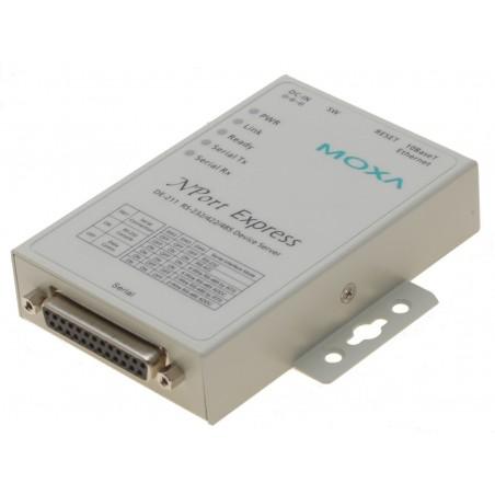 RS232 serielportserver 1 x RS232/422/485, MOXA DE-211