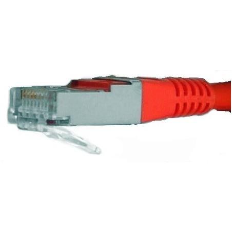 Restlager: RJ45 kabel, STP, rød, krydset
