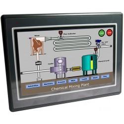 Betjeningspanel kombineret med PLC og Ethernet