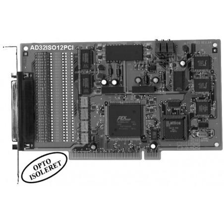 Adlink PCI-9113A. 32 kanalers A/D isolerede indgange, 100kHz, PCI