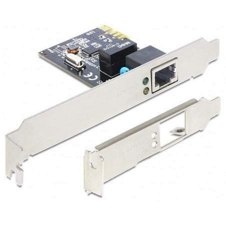 10/100/1000Mbit netkort RJ45, PCIe, H/L profile.