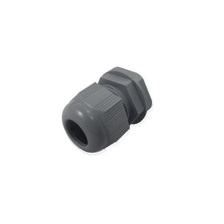 Kabelforskruning/ Cable Gland 6-12mm M20 Grå inkl. møtrik, IP68 tæt