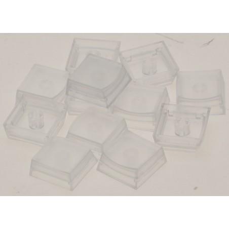Løse kvadratiske tastaturtaster. gennemsigtige. Pakke med 12 stk