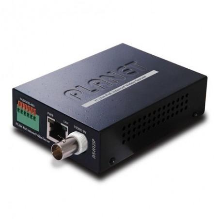Konverter analog kamera til IP-kamera, POE input, 12VDC til kamera, 2 vejs lyd