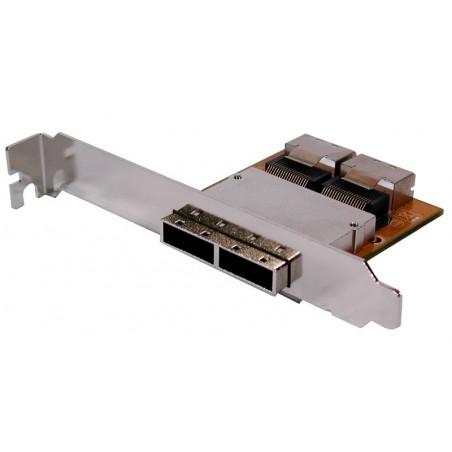 Høj / lav profil bagplade med 2 x SFF-8087 og 2 x SFF-8088