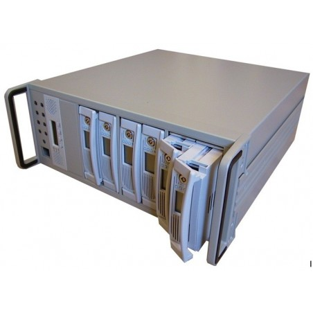 "4U RAID kabinet, 8 x 5 ¼"" vandrette drevpladser"