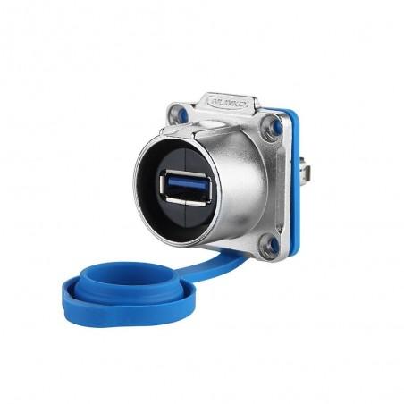 Vandtæt/ IP68 USB3.0 hun/hun stik med gummiprop