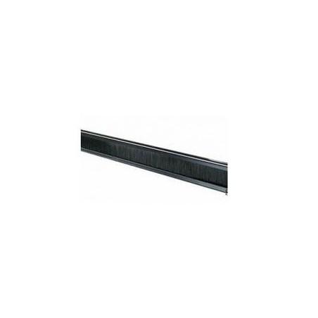 """1U Blindplade, sort. Med sprække til kabelgennemføring. Til 19"""" rackskab"""