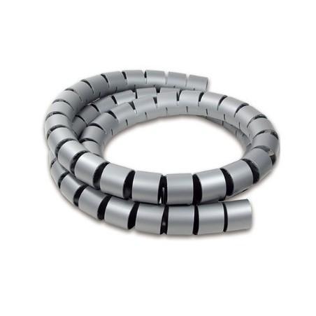 Kabelsamler, Spiral, grå, pakke med 10 meter