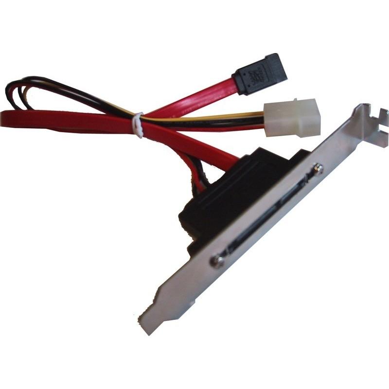 SATA150 kabel med bagplade, 1 data- og 1 strømstik