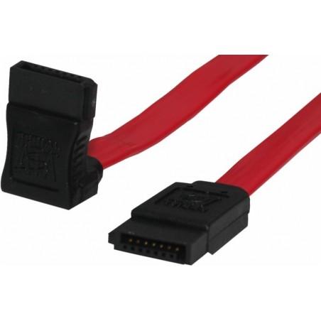SATA150 kabel, 1meter, 90°vinkel. 2 x 7—polet stik