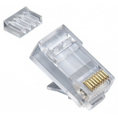 Skærmet RJ45 stik til UTP cat. 6 kabel