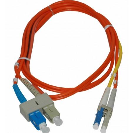 Singlemode til multimode konverterkabel, 5,0 m, SC/SC