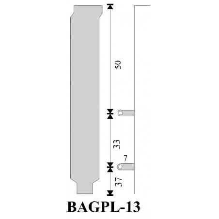 Restsalg: Bagplade. Bracket A-07-003