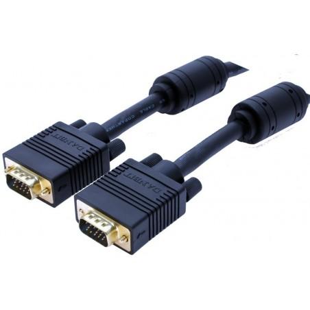 VGA kabel, DB15HD han - DB15HD han, sort, 0,5 meter