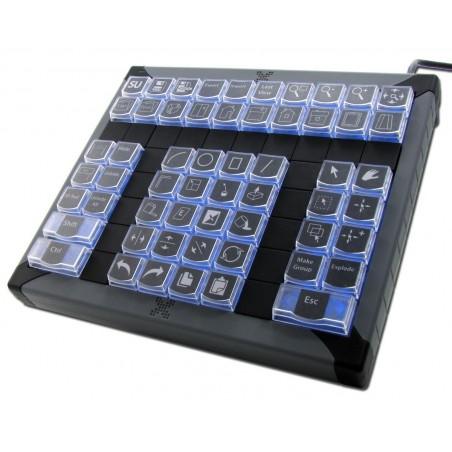 Tastatur med 60 programmerbare taster, USB