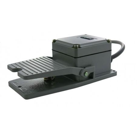 Industriel fodpedal til USB-kontakt-boks. 2,9m ledning med 3,5mm Jack stik. Grå. Tilbehør