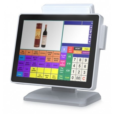 POS terminal All-In-One i3 2.4GHz processor.