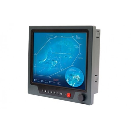 "19"", IP65, 1000 nits LCD, marine godkendt panel monitor med resistive touch support"