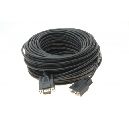 RS232 seriel kabel DB9 han-hun UV beskyttet. Driftstemperatur på -40° til +85°, 60m