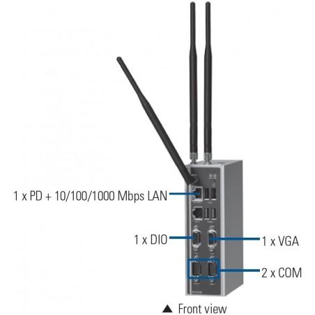 Embedded PC 1.6GHz Celeron, DIN-skinne montage udvidet temperaturområde -20°C ~ +60°C