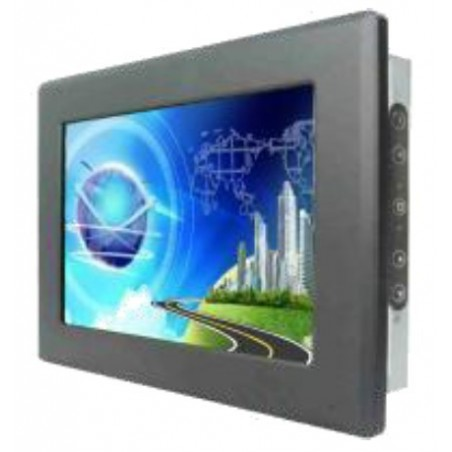 "12.1"" IP65 LCD VGA touch monitor, læsbar i stærkt sollys"