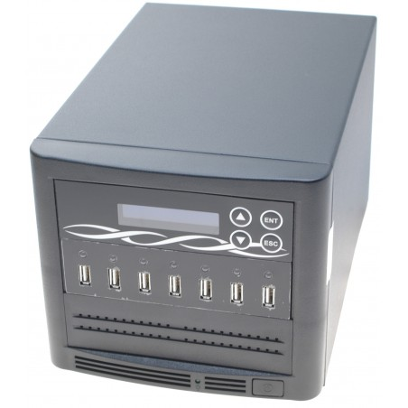 Duplikator til 6 x USB sticks. USB duplicator tower, sort