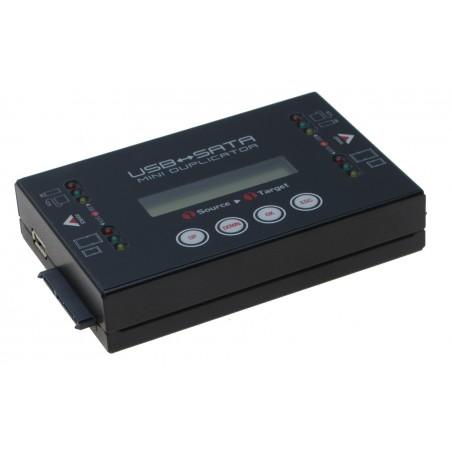 Kopimaskine USB til SATA HDD Mini Duplikator, Ultra high speed op til 18GB/min, 1:1, Stand alone