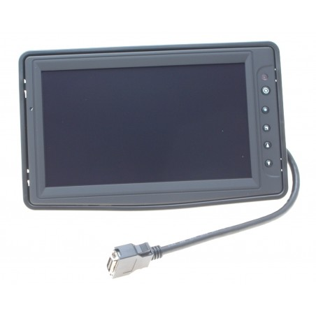 "8"" LED High Bright TFT 16:9, 500 cd/m2/nits, udvidet temperatur -30° - +85°C, Touch,1 x VGA, 3 x video 2 x audio"