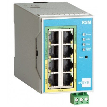 INSYS LAN til LAN Router, 3 x WAN, 5 x LAN, VPN, firewall, Egnet til Siemens 840D
