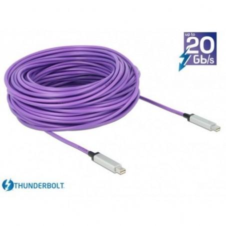 Optisk Thunderbolt datakabel 10 Gbit han-han, AWG 36, 20m