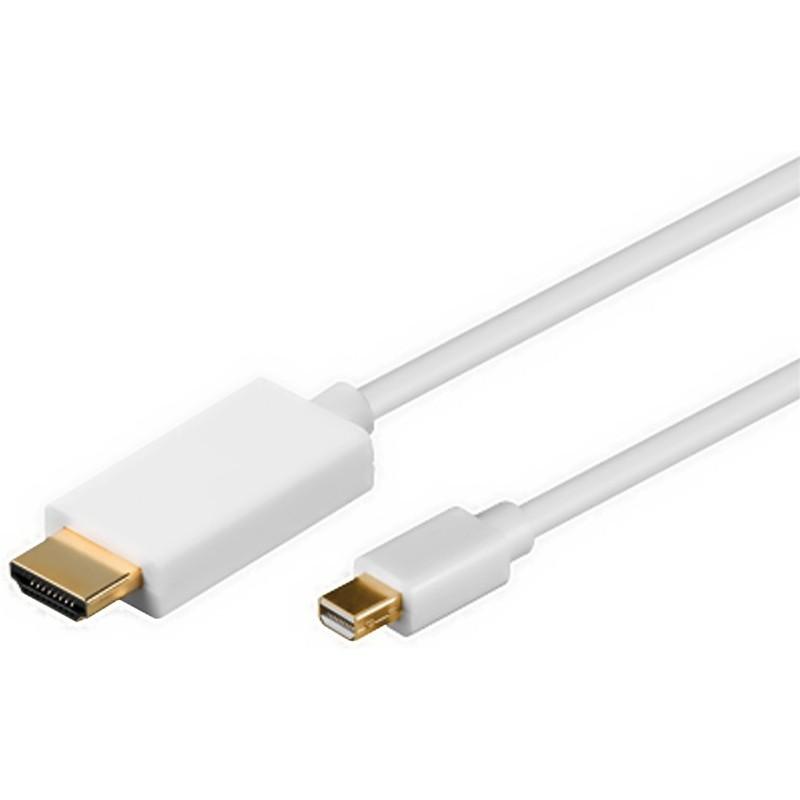 DisplayPort kabel. DP mini han – HDMI han 1,0 meter