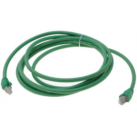 Cat. 6 Polyurethan netværkskabel RJ45 med PUR kappe, halogenfrit, tåler op til 60°, AWG24, grøn, 3,0m